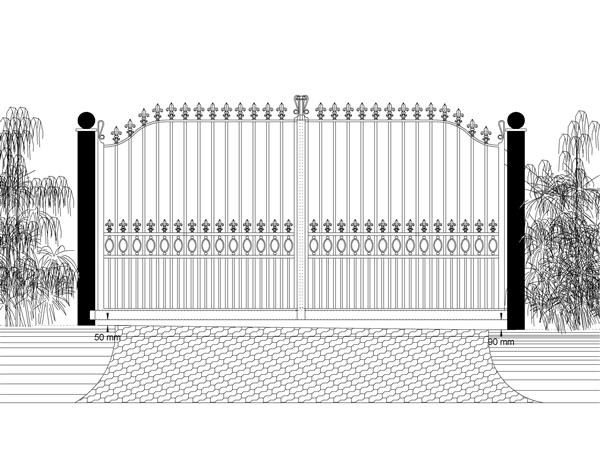 Cantilever slide gate drawings